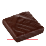 Praline chocolat pavé cinacien lait