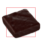 Praline chocolat pavé cinacien noir